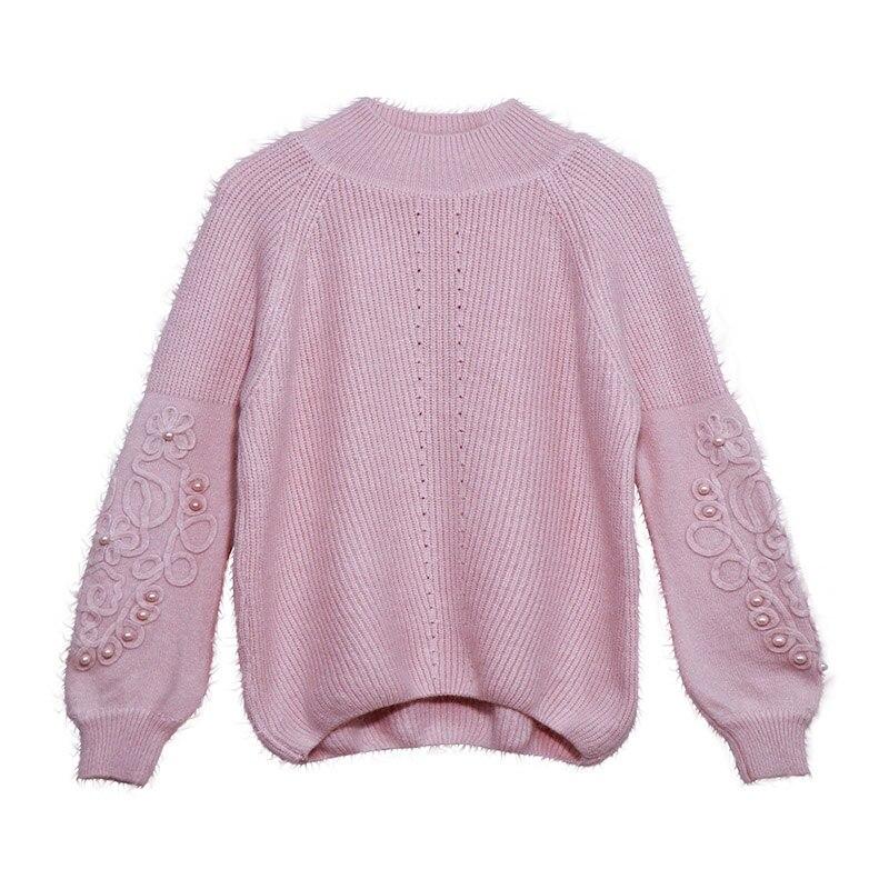 Ordifree 2019 Herbst Winter Frauen Gestrickte Pullover Pullover Pull Femme Strickwaren Warme Weiche Weiß Schwarz Frauen Pullover Jumper