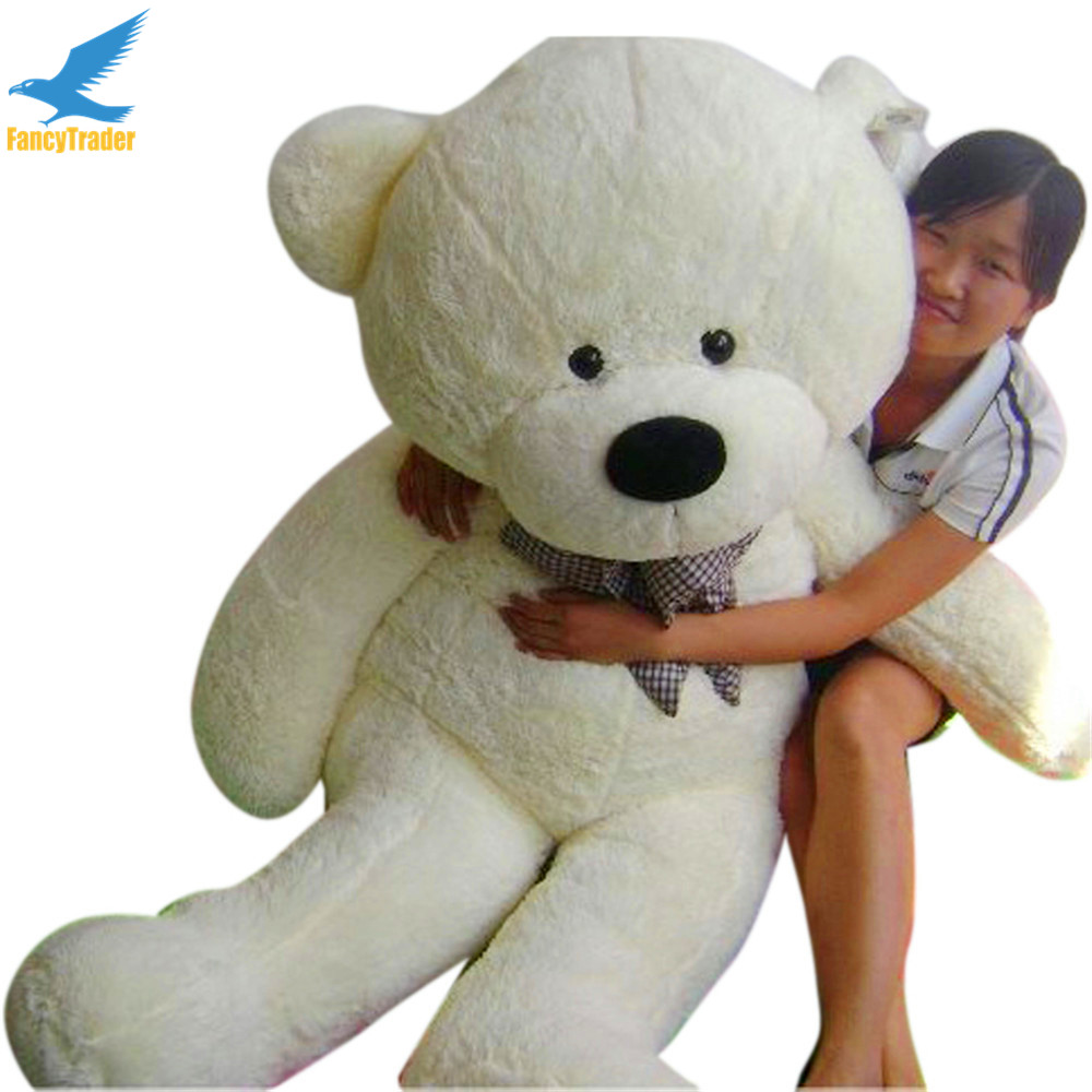 Fancytrader White JUMBO Plush Bear Toy Stuffed with PP Cotton 4 Colors 63'' Good Gift FT90059 fancytrader 63 160cm pink color giant stuffed teddy bear plush bear free shipping ft90059