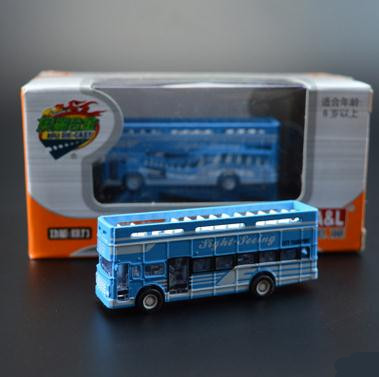 1:64 Alloy Double Decker Bus Models , High Metal Casting Simulation Toy Car,with Sliding Function , Free Shipping