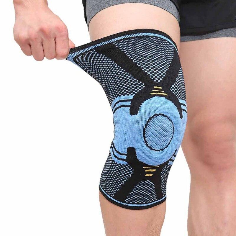 Ginocchiere Supporto di Silicone Riempito Ginocchiera di Sostegno del Menisco Patella Protector Basket Sicurezza e prevenzione nello sport di Protezione M-XL