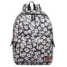 Женская мода цветочный Печати яркие цвета большие сумки школьные рюкзаки ноутбук сумка для подростков милые девушки сумки клеенка