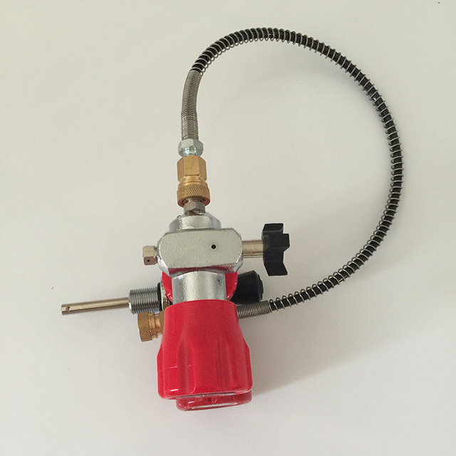 2017 New Design PCP Paintball Red Safety Valve and Filling Station & Hose-A