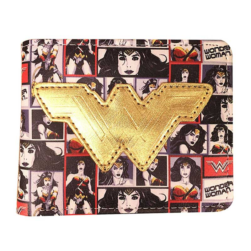 Girls Hero Wonder Woman Wallets PU Leather PVC Card Holder Purse Gifts for Teenager Dollar Price Lady Anime Cartoon Short Wallet cartoon anime purse the witcher wallets creative gift for teenager students pvc card holder bags men short wallet