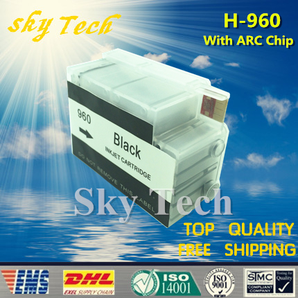 Üres újratölthető tintapatron-ruha a HP960 BK-hoz, öltöny a HP - Irodai elektronika