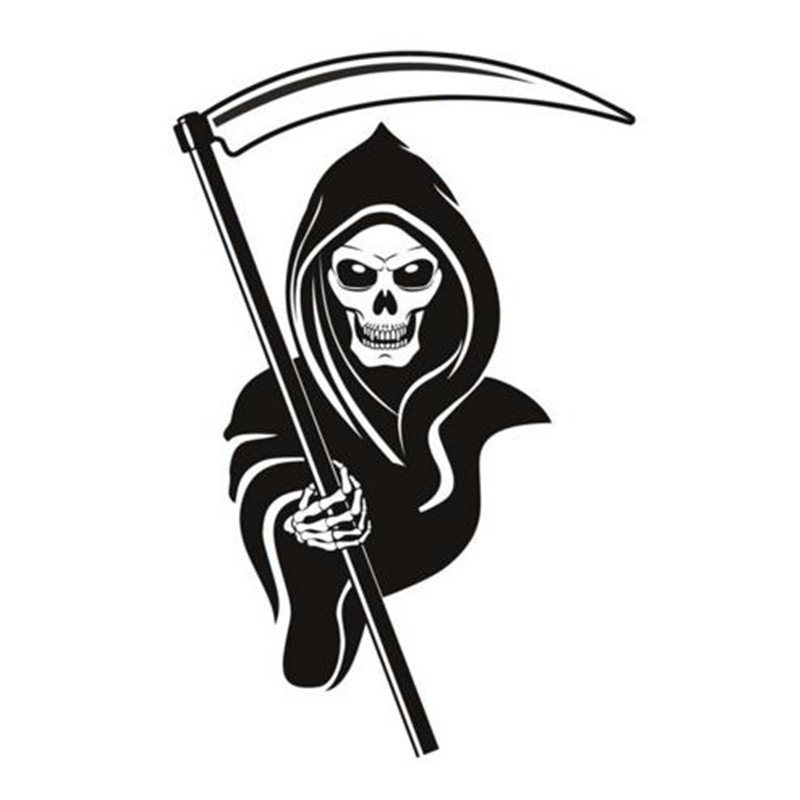 Office Decorative Grim Reaper Wall Sticker For Kids Room Skull PVC Design Removable Self Adhesive Wall Decals