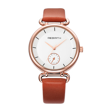 REBIRTH Women Watches 2017 Ladies Quartz Wristwatch Leather Girls Dress Watch Female Clock Top Famous Brand Relogio Feminino