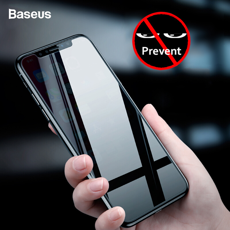 Baseus Privacy Protection Screen Protector For iPhone Xs Max Xr Anti-peeping Protective Tempered Glass Film Cover For iPhone XR iPhone XR