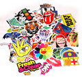 Fashion cool 100 pcs PVC stickers for Travel Suitcase Wall Pencil Box Bike Phone Sliding Plate of mixed graffiti Styling