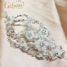 Frete grátis strass flor de cabelo acessórios de casamento grampos de cabelo para mulheres