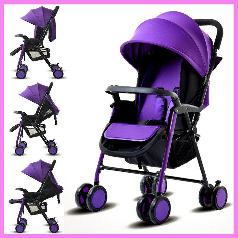 Two-way Reverse Handle Baby Stroller Umbrella Baby Carriage Trolley Baby Pram Pushchair for Newborn Cheap Travel Baby Stroller