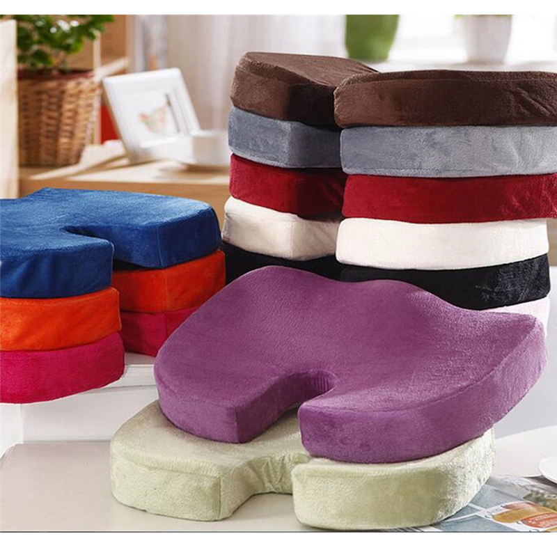 Cushion Seat-Covers Memory Pain Car-Accessories Orthopedic Soft Cotton Relief-Pad Foam-Coccyx