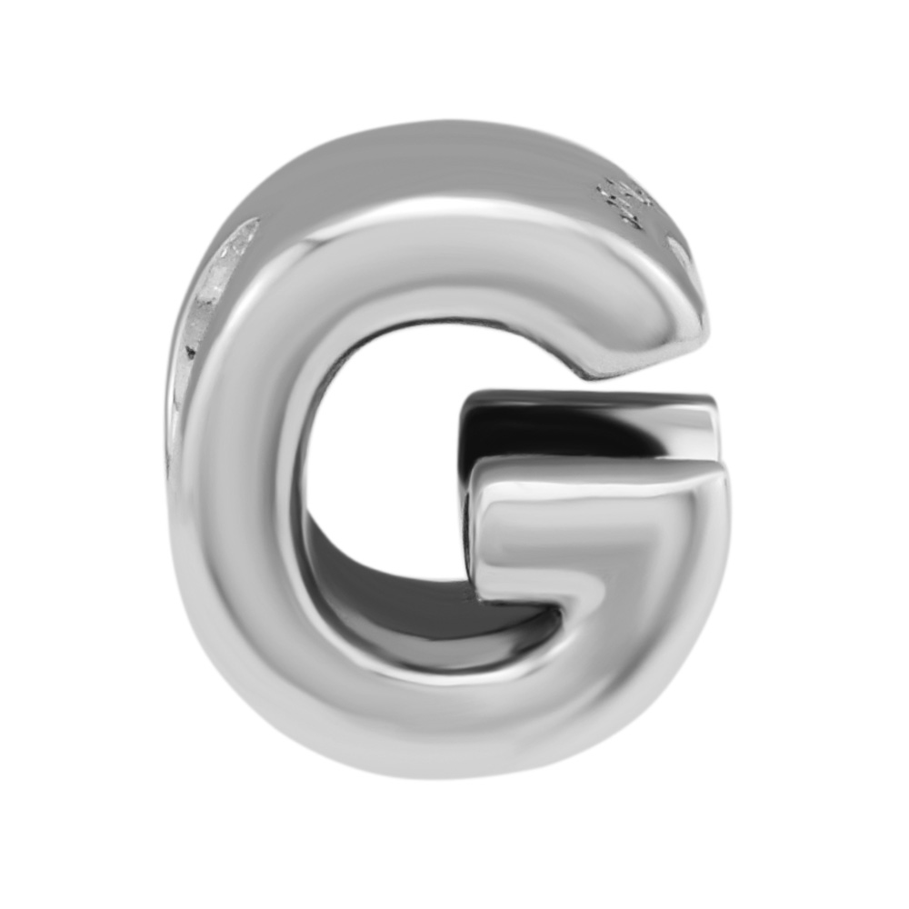 CKK Beads 2018 Letter G Charm Bead Fit Original Bracelets sterling silver jewelry Charms DIY beads for jewelry making CKK Beads 2018 Letter G Charm Bead Fit Original Bracelets sterling silver jewelry Charms DIY beads for jewelry making