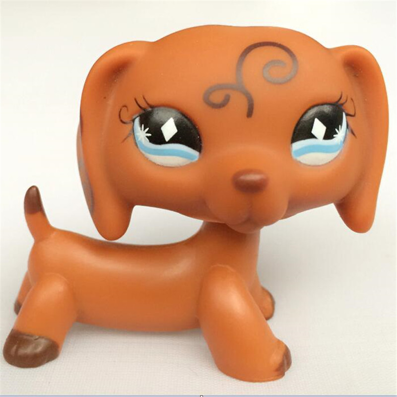 LPS Pet Shop Animal Doll LPS Figure Child Toy Gril Dachshund Dog DWA350 pet shop toys dachshund 932 bronw sausage dog star pink eyes