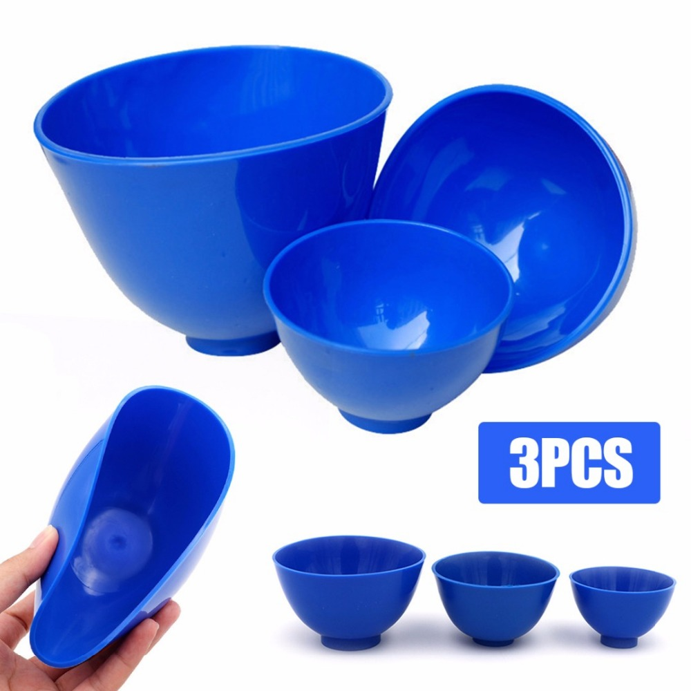 3pcs/set Professional Dental Medical Mixing Bowl Flexible Rubber Bowls S/M/L Dental Lab Oral Hygiene Teeth Whitening Tools