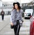 Горячая 2016 новая зимняя мода искусственного меха жилет женщин меха жилет шуба лиса пальто женские пальто дамы размер S-XXXLFree транспорт