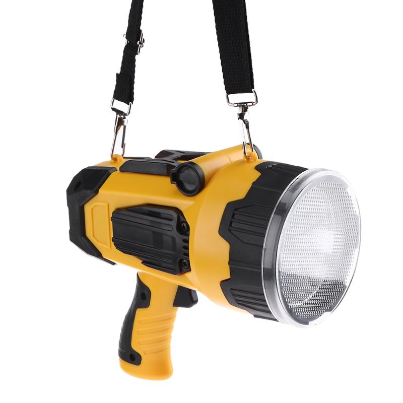 New Powerful LED Spotlight 10W Super Bright Portable Light USB Rechargeable Lantern Outdoor Search Light Spotlight for Hunting