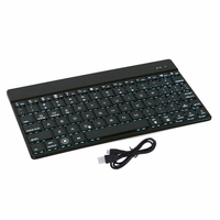 Ultra Thin Wireless Bluetooth 3 0 Keyboard 7 Color Backlight Aluminum Alloy Metal Teclado Sem Fio