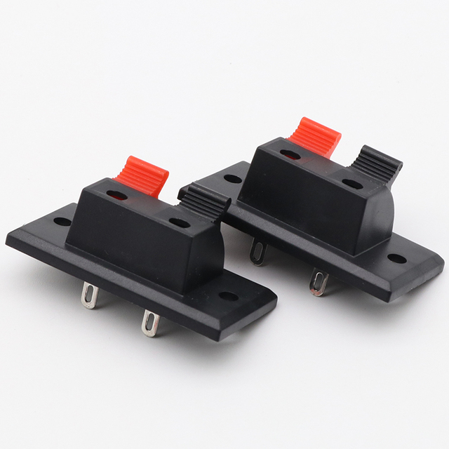 2017 Hot 5 Pcs 2 Positions Connector Terminal Push in Jack Spring Load Audio Speaker Terminals