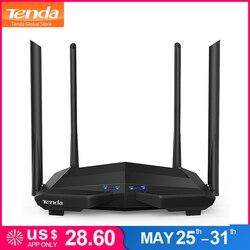 تندا AC10 1200 150mbps اللاسلكي موزع إنترنت واي فاي ، 1 GHz وحدة المعالجة المركزية ، 1WAN + 3LAN جيجابت الموانئ ، 4 * 6dbi الحائط هوائيات ، الذكية APP إدارة
