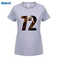 Gildan أحدث المرأة تي شيرت أزياء قصيرة الأكمام المطبوعة ليوبارد 72 ماركة الملابس مضحك قمصان تي محب o بارد القمم