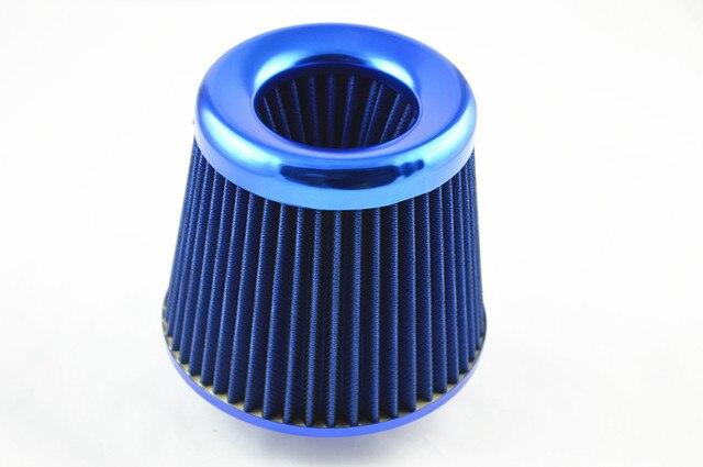 3 pulgadas 75mm azul Tronco SUV Coche de Carreras de Alto Flujo KN Cono Filtro de Admisión de Aire Filtro de Toma de Aire Filtro