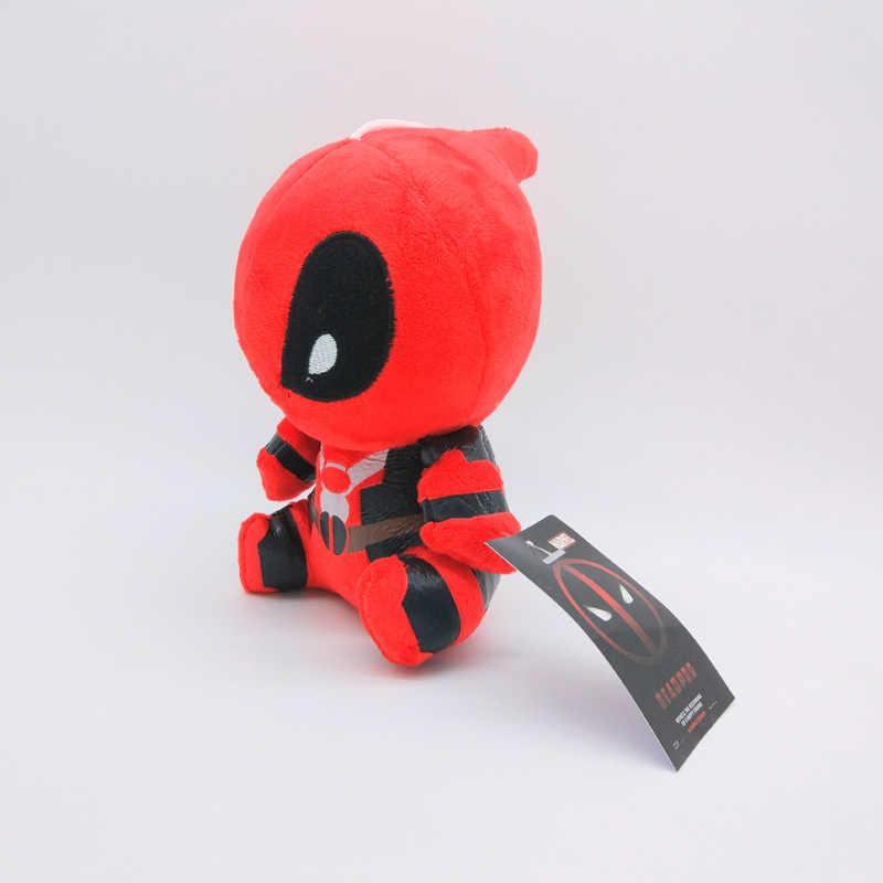 20 cm Marvel Filme X homem-Dead pool Super hero Deadpool Boneca Macia Pelúcia Pingente Brinquedo Chaveiro de Pelúcia Brinquedo crianças Brinquedos de Presente