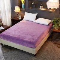 Hot sell Autumn winter burst Single Product Crystal Velvet Fitted Sheet Warm Cashmere bedding twin queen king size home textiles