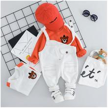 2019 Autumn Kids Infant Clothing Suits Baby Toddler Girls Boys Clothes Sets Bear T Shirt Bib Pants Kids Child Christmas Outfit цена