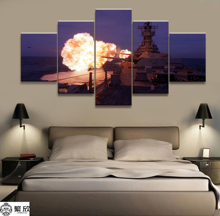 5 Panel Military USS Missouri Navy War Weapon Poster Printed Painting For Living Room Wall Art Decor Picture Artworks Poster 4 panel military uss missouri navy war weapon poster printed painting for living room wall art decor picture artworks poster