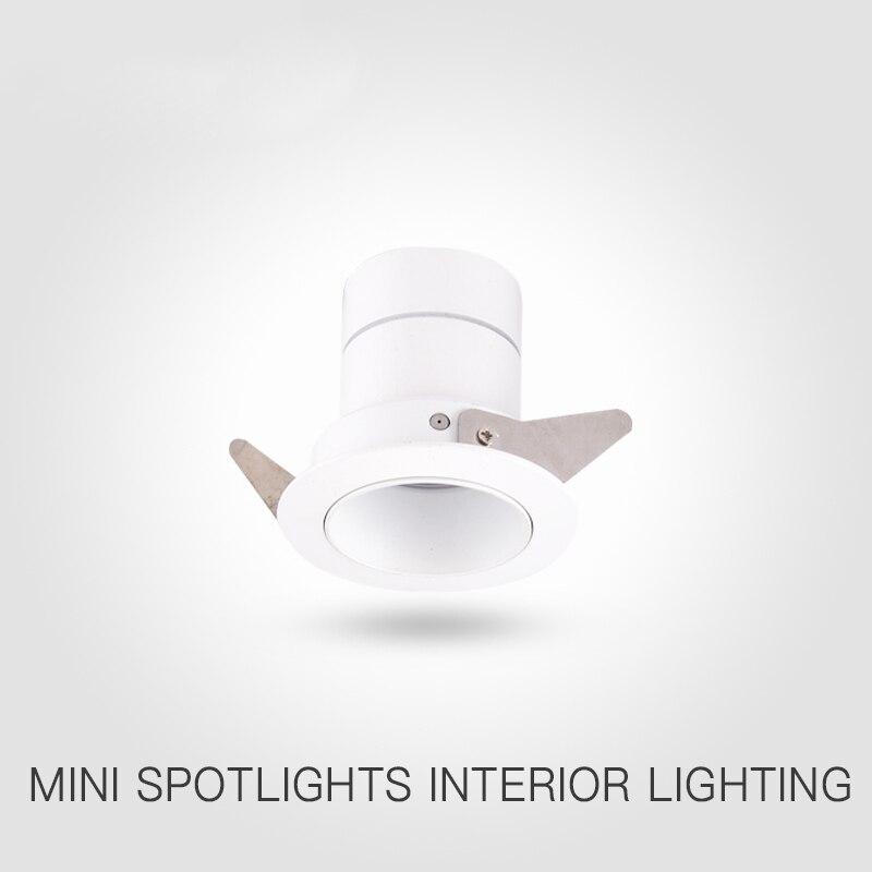 Deberían soltarme LED 5 W mini ant-glare CREE COB foco de lámpara de techo CRI Ra> 85 400Lm moderno interior de Casa de Luz 4000 k