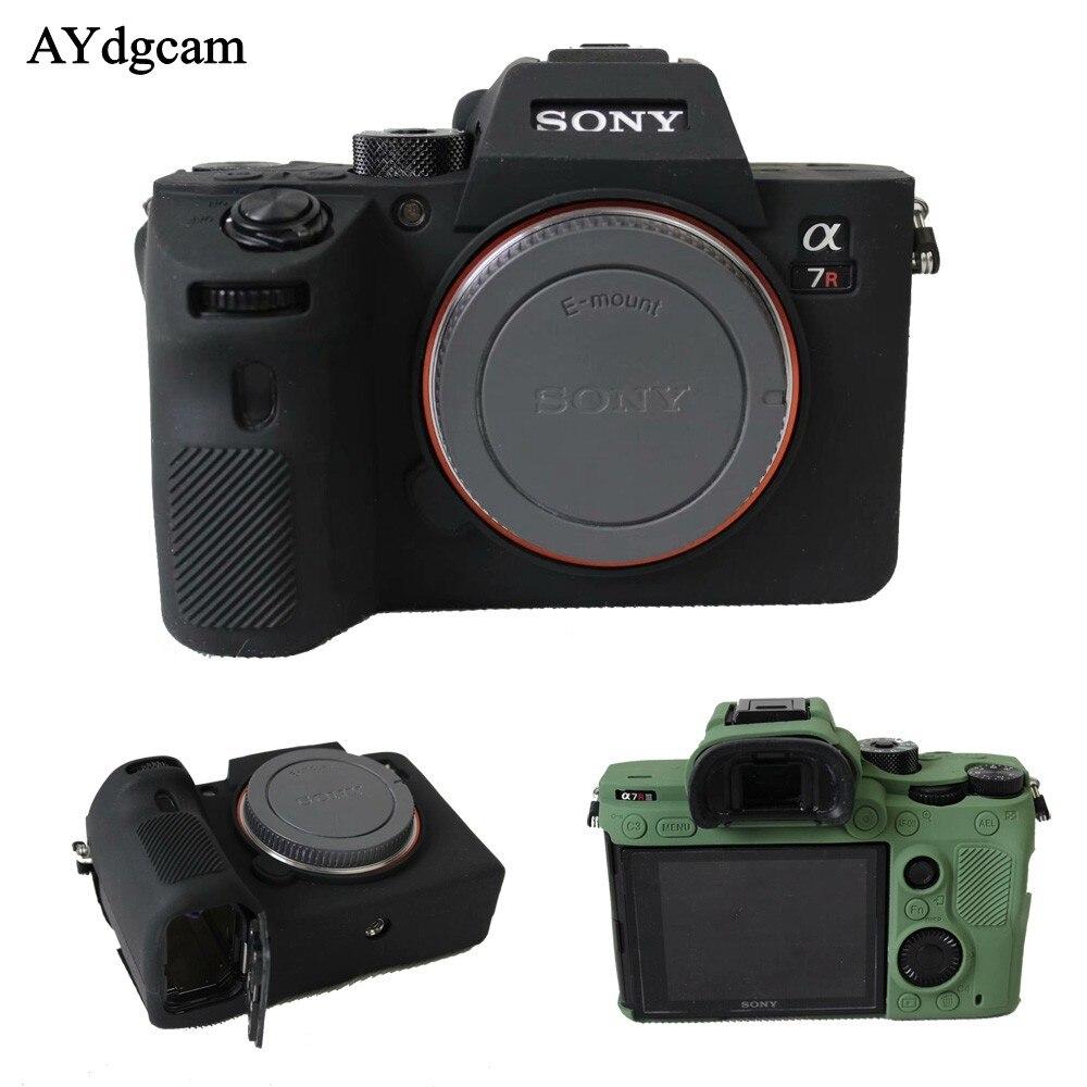 Niza suave cámara de vídeo bolsa para Sony A7III A7R3 A7 marca 3 A7 III silicona caso de la Cámara de goma protectora la piel de la cubierta del cuerpo