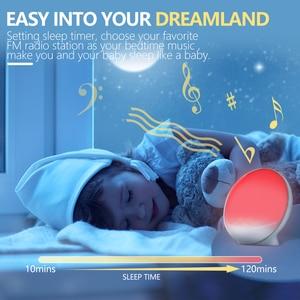 Image 5 - TITIROBA דיגיטלי פונקציה נודניק שעון מעורר חדש להתעורר אור שעון שקיעת זריחת אור FM פונקצית שעון מעורר עבור יומי חיים