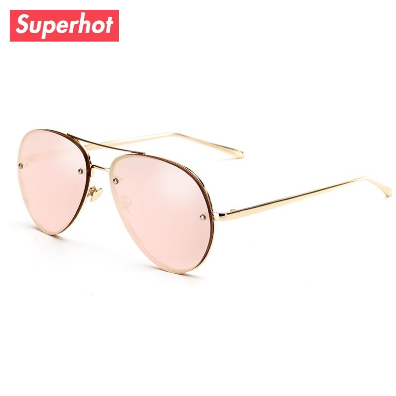 3df5cf14bedb Superhot Eyewear Classic Pilot Sunglasses Men Women Aviation Sun glasses  Shades Gold Frame Black Lenses UV400 SP3027-in Sunglasses from Apparel  Accessories ...