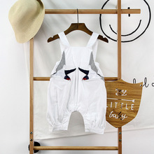 Cute Baby Summer Girls Romper 2017 100% Cotton Newborn Baby Clothes Baby Boy Cartoon Print Sleeveless Romper Infant Belt Romper