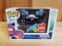 2018 SDCC Exclusive FUNKO POP Official Glow in the dark Moana Tamatoa #421 Vinyl Action Figure Collectible Model Toy