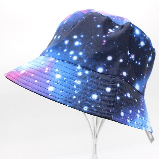 19702c9b7cc Galaxy Sky Color Bucket Hat Woman Bob Chapeau Panama Fishman Summer Sun Hats  Anti-UV
