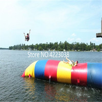 Free Shipping 9*2m Inflatable Water Blob Jump Inflatable Trampoline Water Trampoline Inflatable Water Blob With a Electric Pump