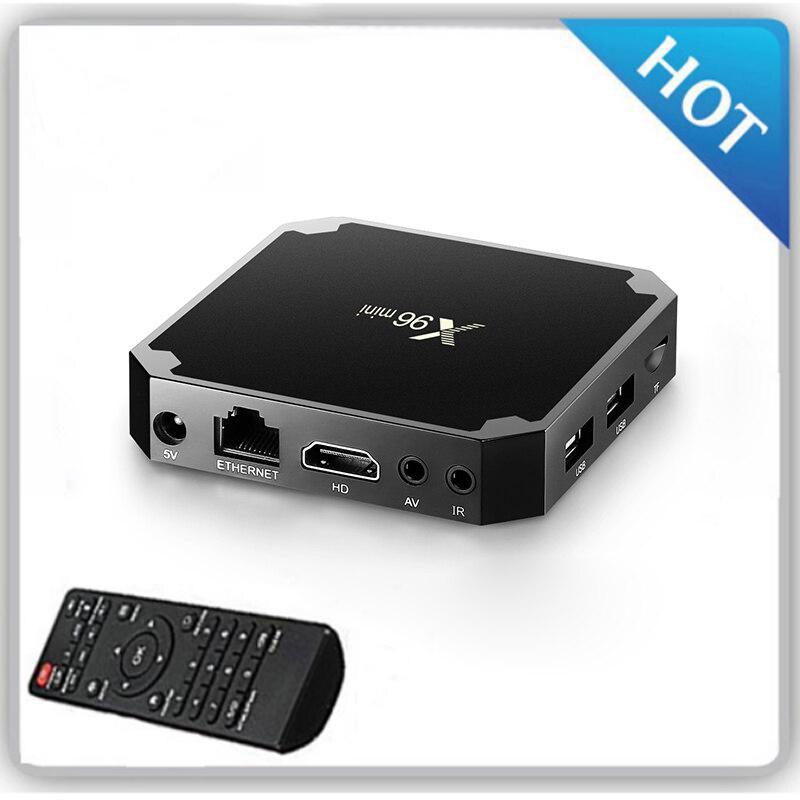 X96 Amlogic S905W Quad Core X96 Mini TV Box Android 7.1 satz Top Box 1 gb 8 gb Netflix 2,4g WIFI 1080 p Media Player X96W/Rj45 Lan