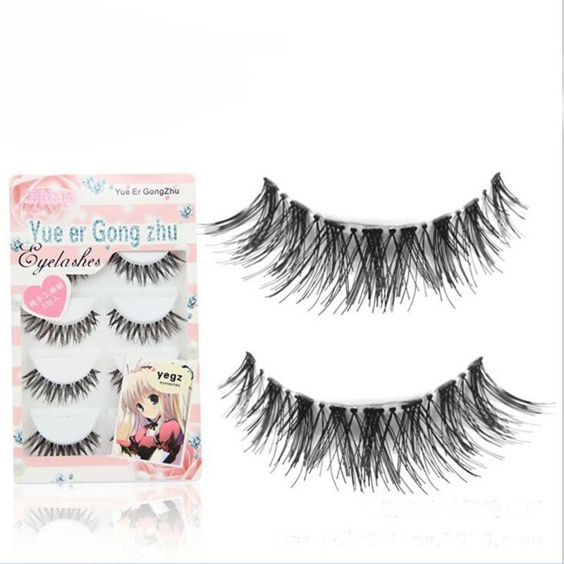 30Pair/Lot Crisscross Natural False Eyelashes Fake Lashes Voluminous Eyelash Extensions Makeup Set For Eyelashes