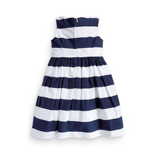 Baby Girls Sleeveless One Piece Dress Blue White Striped