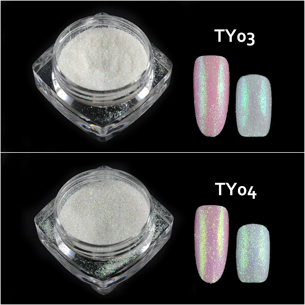 Image 4 - New Fashion 1 Bottle Shining Nail Glitter Dust Sugar Coating Effect Powder DIY Decoration Dust Nail Art Manicure Tool BETY01 05-in Nail Glitter from Beauty & Health