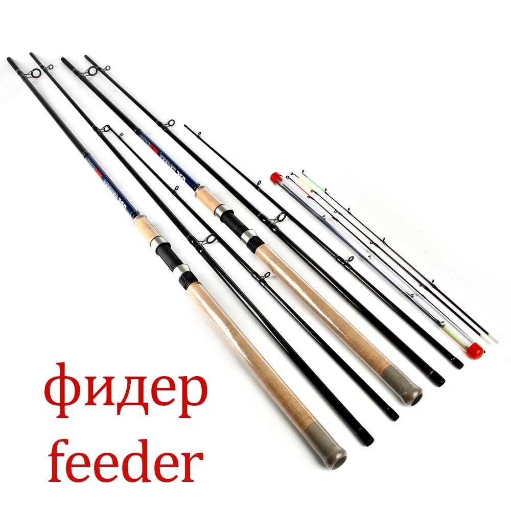 цена на FTK Feeder 3 Sections High Carbon Super Power 3.6M 3.9M L M H Lure Weight 40-120g Feeder Fishing Rod Feeder Rod