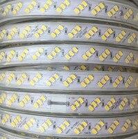 Водонепроницаемый 220 В SMD 5630 5730 5 м 10 м 15 м 20 м светодио дный лента Гибкая светодио дный полосы света 180 светодио дный s/M Открытый сад освещения