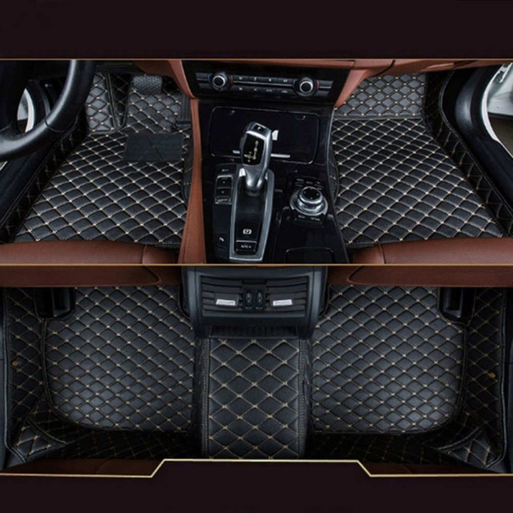 Custom Car Floor Mats For BMW 7 Series G11/G12 740i 750i Floor Mats 2016 2017 Leather Carpet Car Styling