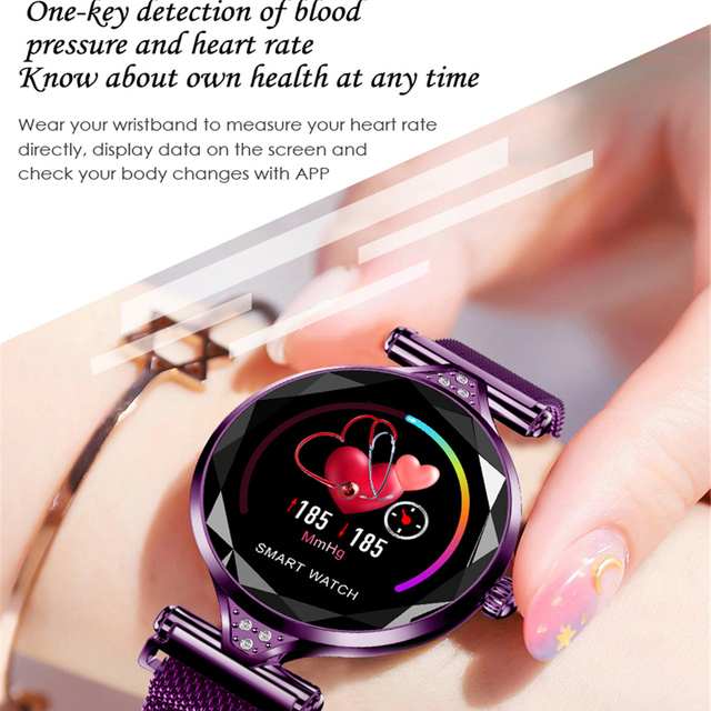 H1 Lady Smart Watch Fashion Women Watch Heart Rate Monitor Fitness Tracker Women Smartwatch Bluetooth Waterproof Smart Bracelet. 3