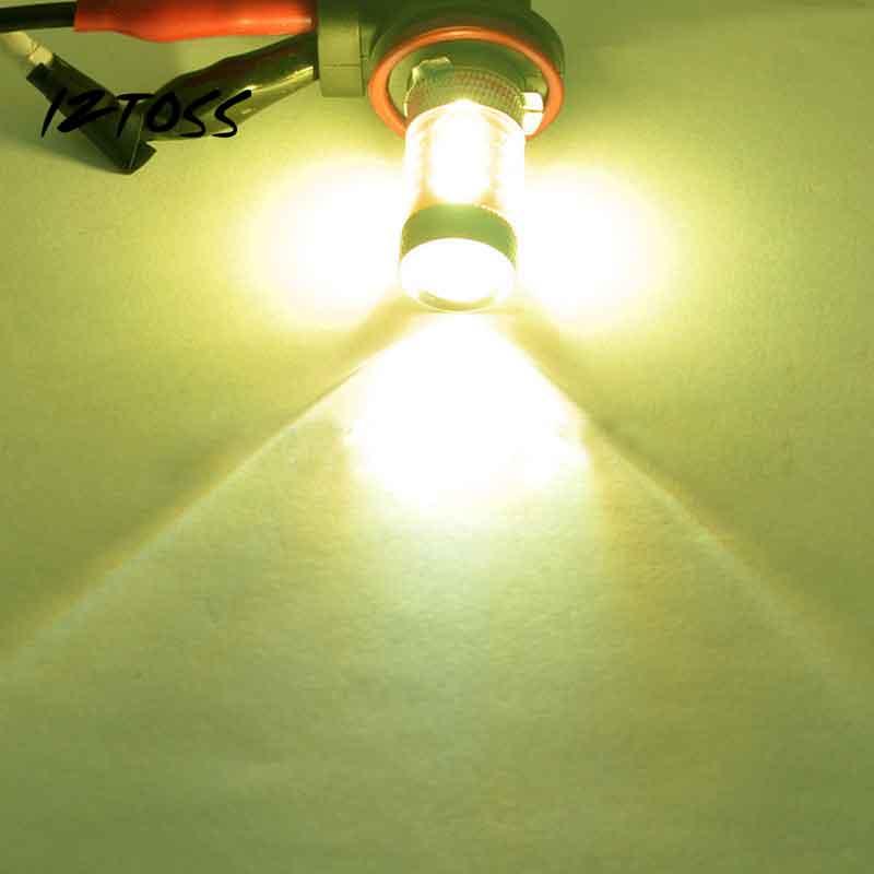 80W 2PCS Car LED Fog Lamp H8 2323 Yellow High Fog Lamps Fog Lights Bulds