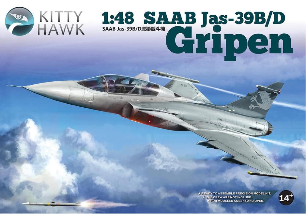 Kitty Hawk KH80118 1/48 SAAB JAS-39B/D Gripen hawk hkaw 128 1
