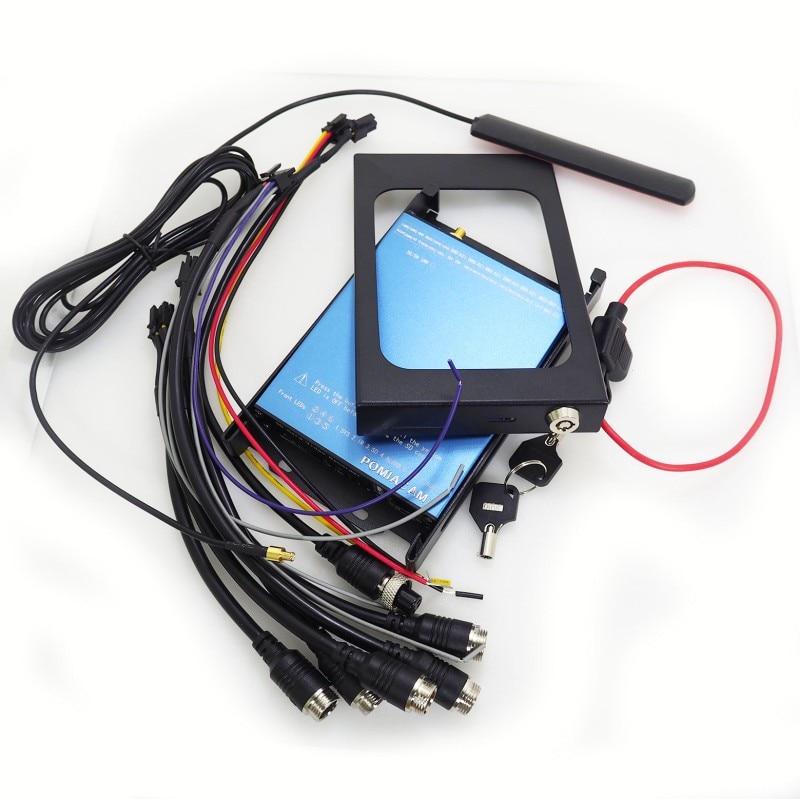 Factory Direct Mini AHD DVR 4CH SD Card Mobile DVR GPS WIFI G-Sensor 3G 4G Car Bus Vehicle CCTV Mobile DVR SDVR104