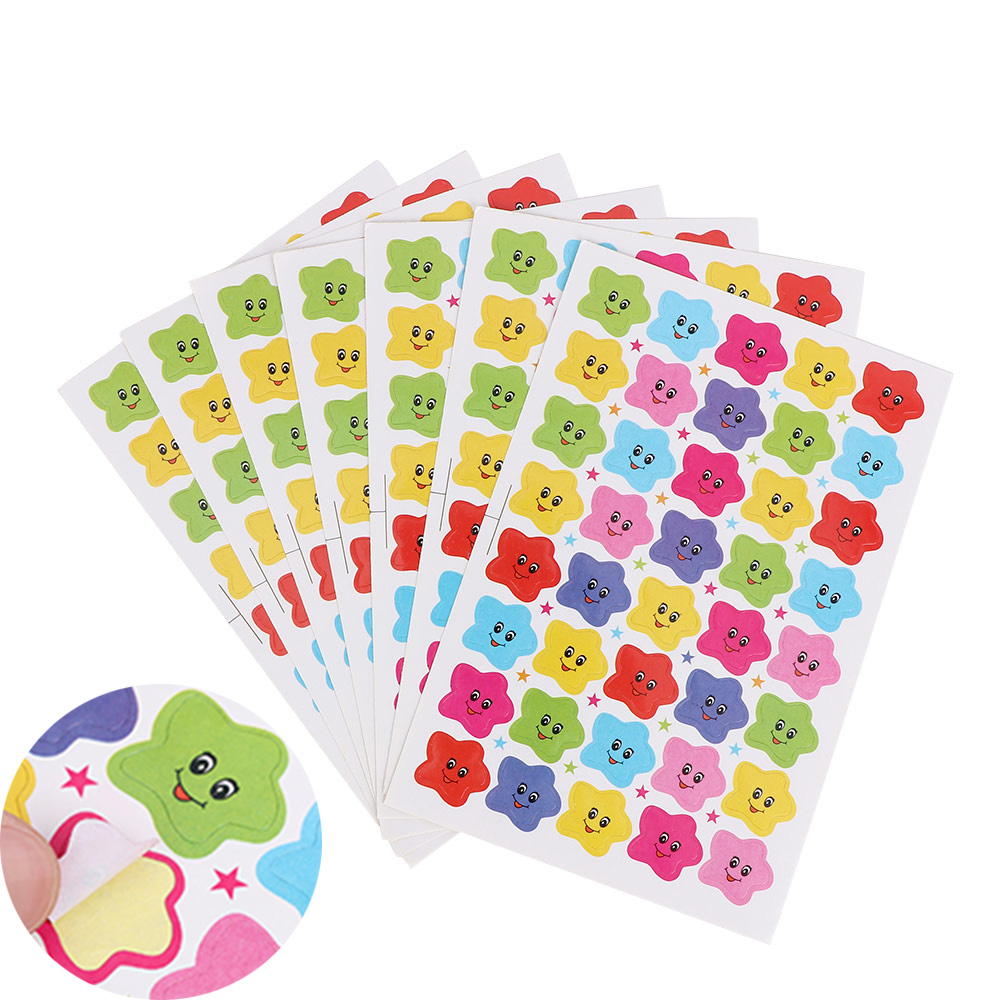 10 Sheets=400Pcs Smiley Face Star Stickers Decal School Cute Children Teacher Reward Sticker Label DIY Diary Sticker