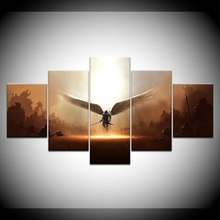 Game Two Steps From Hell Archangel HD Print 5 Piece Canvas Wall Art Painting For Living Room